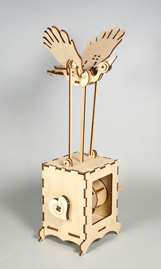 Goofy Bird automata kit by Cecilia Schiller