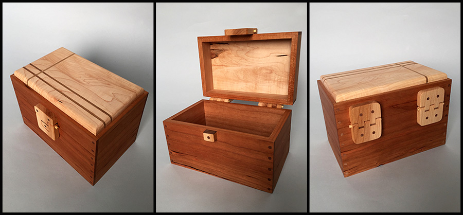 Z_Cherry-maple-walnut Keepsake Box